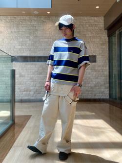 エスパル仙台店のmisaさんのLeeの終了【サマーセール】マルチボーダーTシャツ 半袖を使ったコーディネート