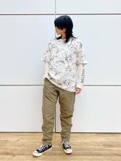 エスパル仙台店のmisaさんのLeeの【予約】【Lee×GRAMICCI(グラミチ)】バックプリント 半袖Tシャツを使ったコーディネート