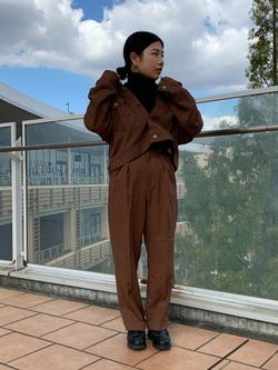 ららぽーと横浜のYukakoさんのLeeの【セットアップ対応】ジャケットを使ったコーディネート