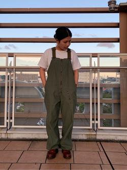 ららぽーと横浜のYukakoさんのLeeのミリタリー オーバーオールを使ったコーディネート