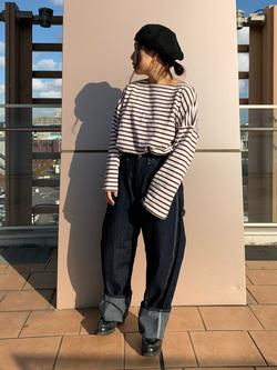 ららぽーと横浜のYukakoさんのLeeの【ユニセックス】DUNGAREES ペインターパンツを使ったコーディネート