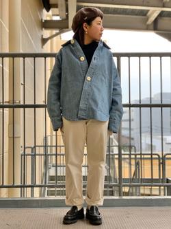 ららぽーと横浜のYukakoさんのLeeの【シークレットセーール!!】BUDDY LEE ワークシャツ【ユニセックス】を使ったコーディネート