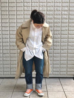 ららぽーと横浜のYukakoさんのLeeのAMERICAN RIDERS 203 テーパードを使ったコーディネート