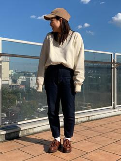 ららぽーと横浜のYukakoさんのLeeの【ユニセックス】バックプリント クルーネツク長袖を使ったコーディネート