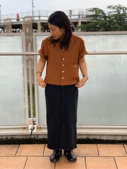 ららぽーと横浜のYukakoさんのLeeの終了【再値下げ!サマーセール】ルーズフィットシャツ 半袖を使ったコーディネート