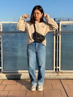 ららぽーと横浜のYukakoさんのLeeのSTANDARD WARDROBE レギュラーストレートを使ったコーディネート