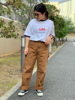 ららぽーと横浜のYukakoさんのLeeの終了【再値下げ!サマーセール】リンガーTシャツ 半袖を使ったコーディネート