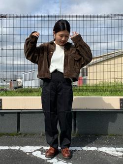 ららぽーと横浜のYukakoさんのLeeの【オーガニックコットン素材】ワッフル ベーシック長袖Tシャツを使ったコーディネート