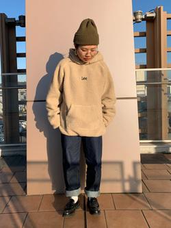 ららぽーと横浜のYukakoさんのLeeの【Pre sale】【ユニセックス】フリースプルオーバーを使ったコーディネート