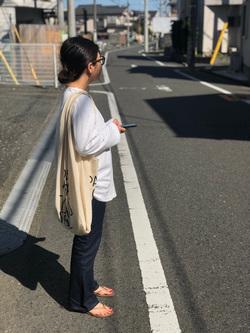 ららぽーと横浜のYukakoさんのLeeのSTANDARD WARDROBE フレアーを使ったコーディネート