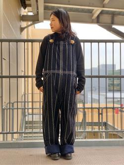 ららぽーと横浜のYukakoさんのLeeの【シークレットセーール!!】BUDDY LEE オーバーオール【ユニセックス】を使ったコーディネート