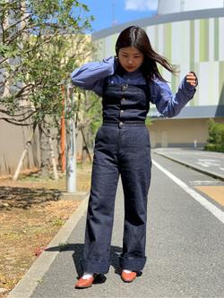 ららぽーと横浜のYukakoさんのLeeの【シークレットセーール!!】MARINE マリンサロペツトを使ったコーディネート