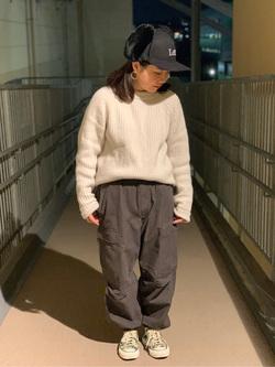 ららぽーと横浜のYukakoさんのLeeの終了【シークレットセーール!!】DUNGAREES カーゴイージーパンツを使ったコーディネート