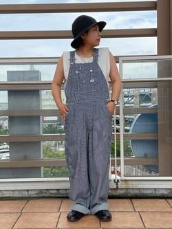 ららぽーと横浜のYukakoさんのLeeの【SALE】【軽くて涼しい】ライトウエイト オーバーオールを使ったコーディネート