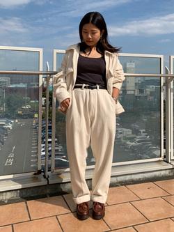 ららぽーと横浜のYukakoさんのLeeの【セットアップ対応】チェトパ ジャケットを使ったコーディネート