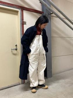 ららぽーと横浜のYukakoさんのLeeの【Winter sale】ミリタリー オーバーオールを使ったコーディネート