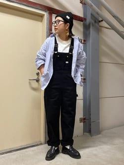 ららぽーと横浜のYukakoさんのLeeの【15%OFFクーポン対象】【オールシーズン着回せる】オーバーオール テーパードを使ったコーディネート