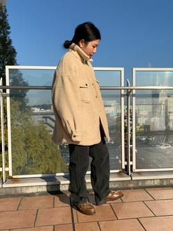 ららぽーと横浜のYukakoさんのLeeの【トップス15%OFFクーポン対象】【ふっくらボア】CPO ジャケットを使ったコーディネート