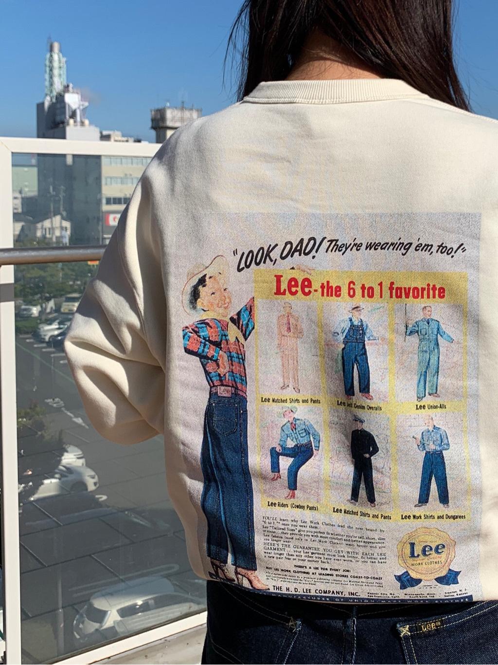 ららぽーと横浜のYukakoさんのLeeの【Pre sale】【ユニセックス】バックプリント クルーネツク長袖を使ったコーディネート
