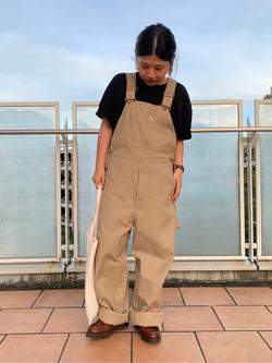 ららぽーと横浜のYukakoさんのLeeのワークミリタリー オーバーオールを使ったコーディネート