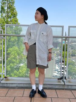 ららぽーと横浜のYukakoさんのLeeのバンドカラー デニム/コットン 長袖シャツを使ったコーディネート