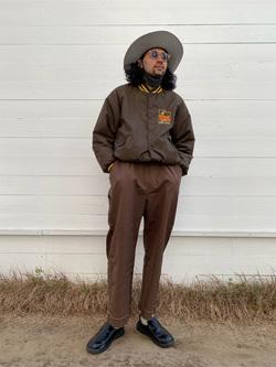 原宿店のKenchanさんのLeeの【限定カラー】【ユニセックス】バルーンサロペット/オーバーオールを使ったコーディネート