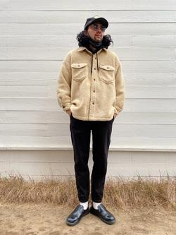 原宿店のKenchanさんのLeeの【再値下げ Winter sale】【ふっくらボア】CPO ジャケットを使ったコーディネート