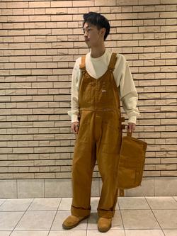 札幌パセオ店のTatsukiさんのLeeの【再値下げ Winter sale】エプロンオーバーオールを使ったコーディネート