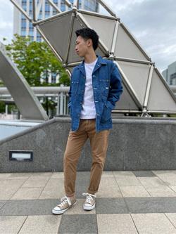 札幌パセオ店のTatsukiさんのLeeのカバーオールジャケットを使ったコーディネート