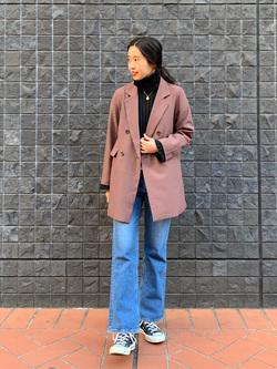 大阪店のmotomiさんのLeeのSTANDARD WARDROBE フレアーを使ったコーディネート