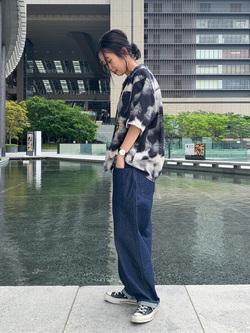 大阪店のmotomiさんのEDWINの【コンセプトショップ限定】EDWIN EUROPE PHOTO COPY SHIRTを使ったコーディネート