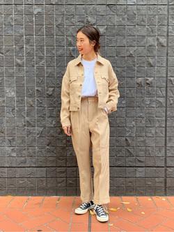 大阪店のmotomiさんのLeeの【トップス15%OFFクーポン対象】【セットアップ対応】ジャケットを使ったコーディネート