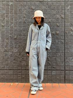 大阪店のmotomiさんのLeeの【男女兼用】DUNGAREES UNION-ALLS/つなぎ/ジャンプスーツ/オールインワンを使ったコーディネート