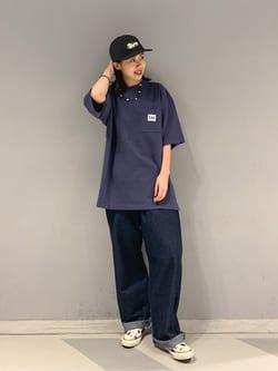 大阪店のmotomiさんのLeeの【予約】【XSからXXLまでを1サイズでカバーする】FLeeasy イージーパンツ【6月下旬頃発送予定】を使ったコーディネート