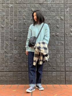大阪店のmotomiさんのLeeの【さらっと羽織れる】シャツジャケットを使ったコーディネート