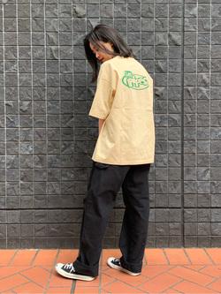 大阪店のmotomiさんのLeeの【シークレットセーール!!】LEE PIPES  半袖Tシャツを使ったコーディネート