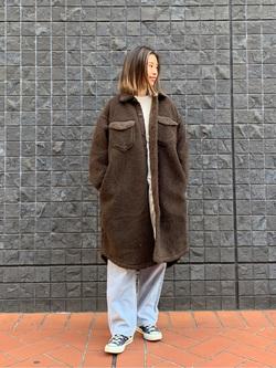 大阪店のmotomiさんのLeeの【再値下げ Winter sale】【ふっくらボア】CPO ロングシャツを使ったコーディネート
