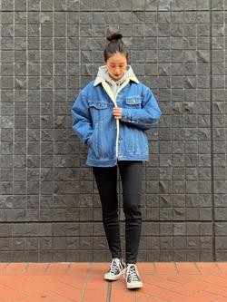 大阪店のmotomiさんのLeeの【Winter sale】BOA STORM RIDER ジャケット【デニム】を使ったコーディネート