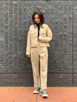 大阪店のmotomiさんのLeeの【再値下げ Winter sale】【セットアップ対応】ジャケットを使ったコーディネート