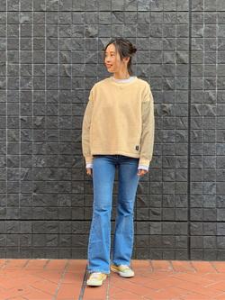 大阪店のmotomiさんのLeeの【再値下げ Winter sale】【ボア×キルティング】クルーネック プルオーバーを使ったコーディネート