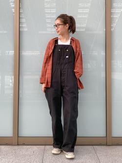 ルクア大阪のmotomiさんのLeeのチェック柄 長袖シャツを使ったコーディネート