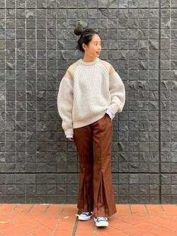 大阪店のmotomiさんのLeeのミリタリー パッチワークセーターを使ったコーディネート