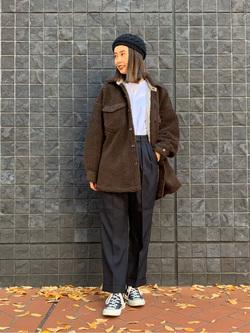 大阪店のmotomiさんのLeeの【トップス15%OFFクーポン対象】【ふっくらボア】CPO ジャケットを使ったコーディネート