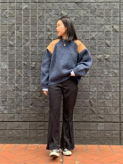 大阪店のmotomiさんのLeeの【Pre sale】ミリタリー パッチワークセーターを使ったコーディネート