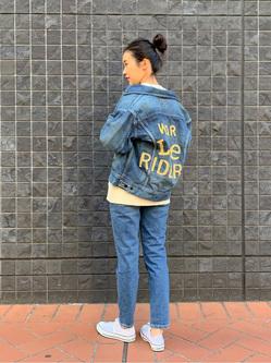大阪店のmotomiさんのLeeの【Winter sale】101 PROJECT RIDERS JACKETを使ったコーディネート