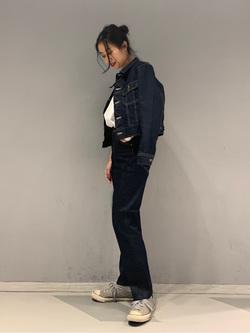 大阪店のmotomiさんのLeeの【セットアップ対応】センタープレス テーパードパンツを使ったコーディネート