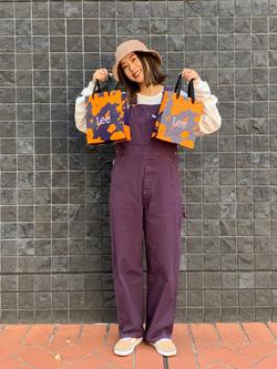 大阪店のmotomiさんのLeeのワークミリタリー オーバーオールを使ったコーディネート