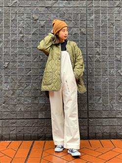 大阪店のmotomiさんのLeeの【Winter sale】ミリタリー オーバーオールを使ったコーディネート