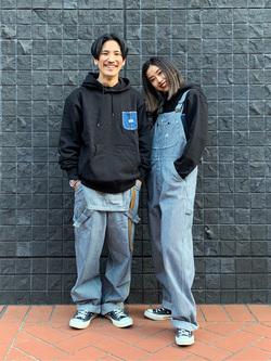 大阪店のmotomiさんのLeeの終了【Winter sale】【男女兼用】デニムポケット パーカーを使ったコーディネート