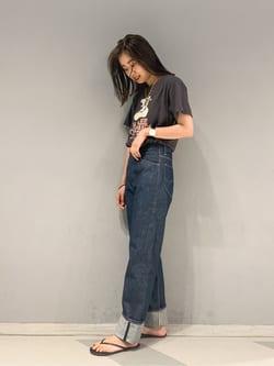 大阪店(閉店)のmotomiさんのLeeの【SALE】【本格的なビンテージ】ロールアップ デニムパンツを使ったコーディネート